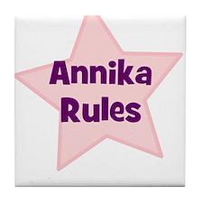 Annika Rules Tile Coaster