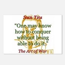 One May Know How To Conquer - Sun Tzu Postcards (P