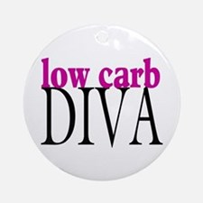 Low Carb Diva Ornament (Round)