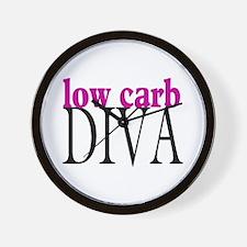 Low Carb Diva Wall Clock