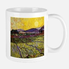 Van Gogh Field with Rising Sun Small Small Mug