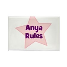 Anya Rules Rectangle Magnet