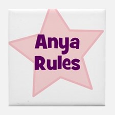 Anya Rules Tile Coaster