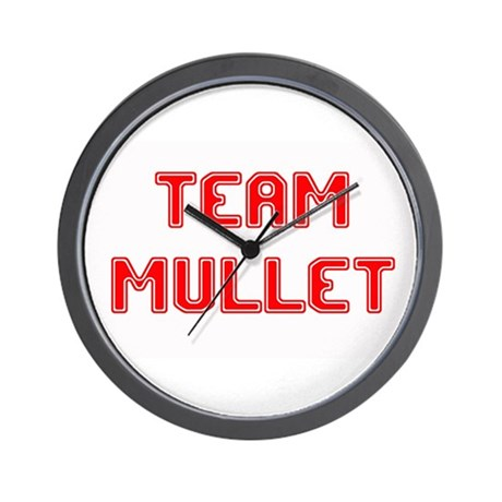 Team Mullet..... Wall Clock