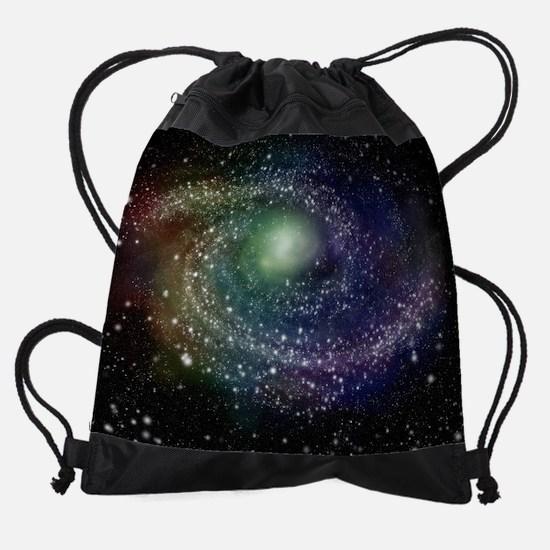 Rainbow Galaxy Drawstring Bag