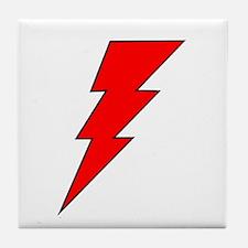 The Red Lightning Bolt Shop Tile Coaster