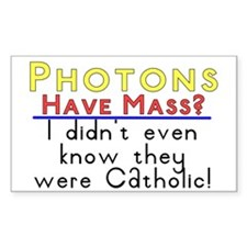 photons have mass? Rectangle Decal