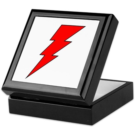 The Red Lightning Bolt Shop Keepsake Box