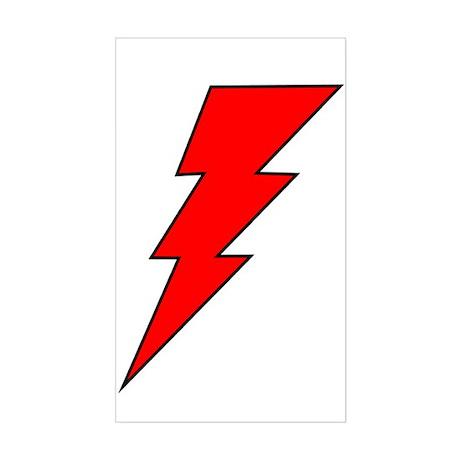 The Red Lightning Bolt Shop Rectangle Sticker