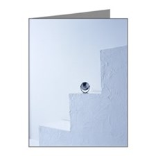 A tiny globe kept on stairs Note Cards (Pk of 10)