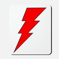 The Red Lightning Bolt Shop Mousepad