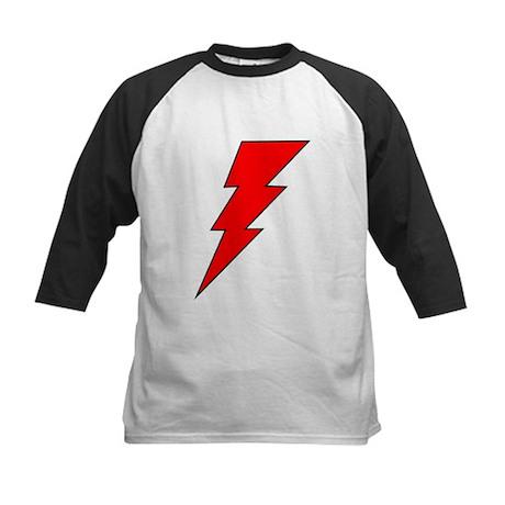 The Red Lightning Bolt Shop Kids Baseball Jersey