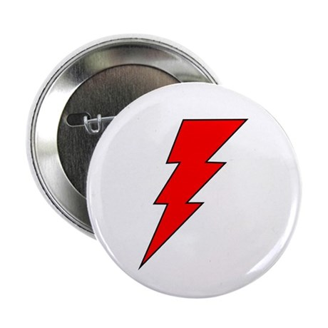 "The Red Lightning Bolt Shop 2.25"" Button (100 pack"