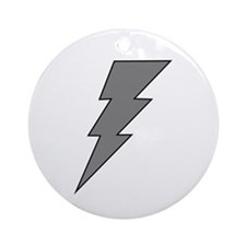 The Lightning Grey Shop Ornament (Round)