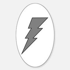 The Lightning Grey Shop Oval Decal