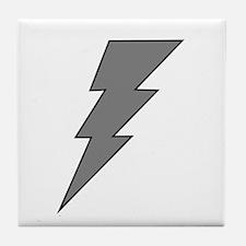 The Lightning Grey Shop Tile Coaster