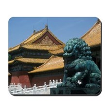 """The Forbidden City - bronze lion in fron Mousepad"
