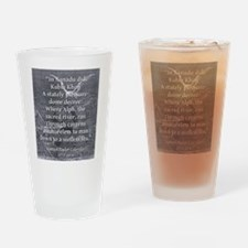 In Xanadu Did Kubla Kahn - Coleridge Drinking Glas