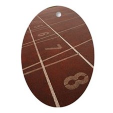 Numbered lanes on track Ornament (Oval)