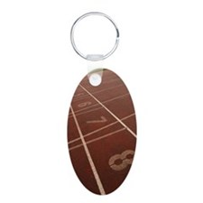 Numbered lanes on track Keychains