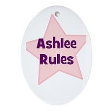 Ashlee Rules Oval Ornament