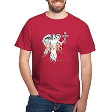 Healing Angel Black or Cardinal color T-Shirt