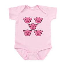 Cute Pink Pigs Infant Bodysuit