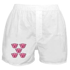 Cute Pink Pigs Boxer Shorts