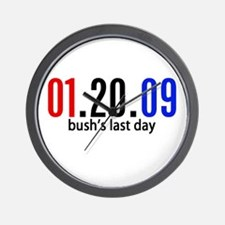 Bushs Last Day Wall Clock