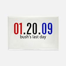 Bushs Last Day Rectangle Magnet