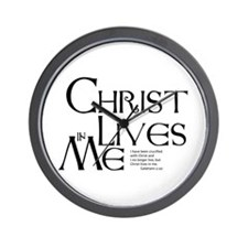Christ Lives in Me Wall Clock