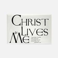 Christ Lives in Me Rectangle Magnet
