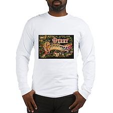 Victorian Merry Christmas Long Sleeve T-Shirt