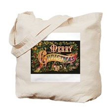 Victorian Merry Christmas Tote Bag