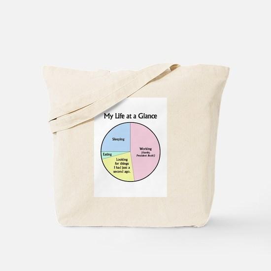 My Life at a Glance Tote Bag