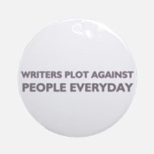 Writing funny decorative round ornament