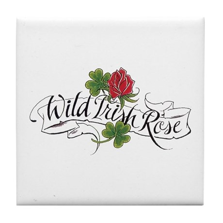 Wild Irish Rose Tile Coaster