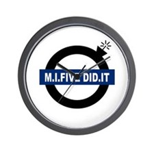 MI5 DID IT Wall Clock