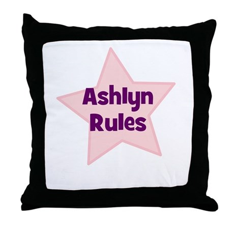 Ashlyn Rules Throw Pillow