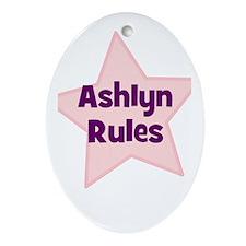 Ashlyn Rules Oval Ornament