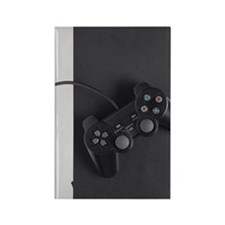 Games controller on games console Rectangle Magnet