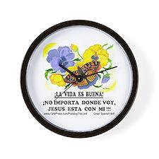 Bonita Flores! Wall Clock