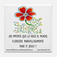 Flores por Jesus! Tile Coaster
