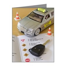Toy car, car key, and driver Note Cards (Pk of 10)