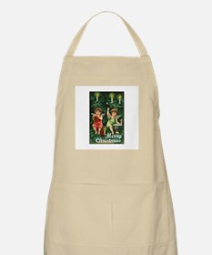 Merry Christmas - Tiny Angels on Tree BBQ Apron
