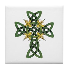 Irish Cross Tile Coaster