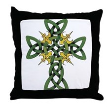 Irish Cross Throw Pillow