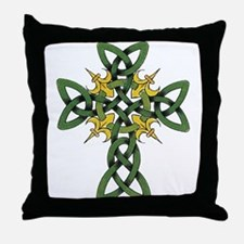 Irish Cross Throw Pillow