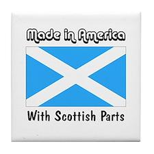Scottish Parts Tile Coaster