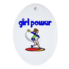 Girl Power Discus Ceramic Ornament